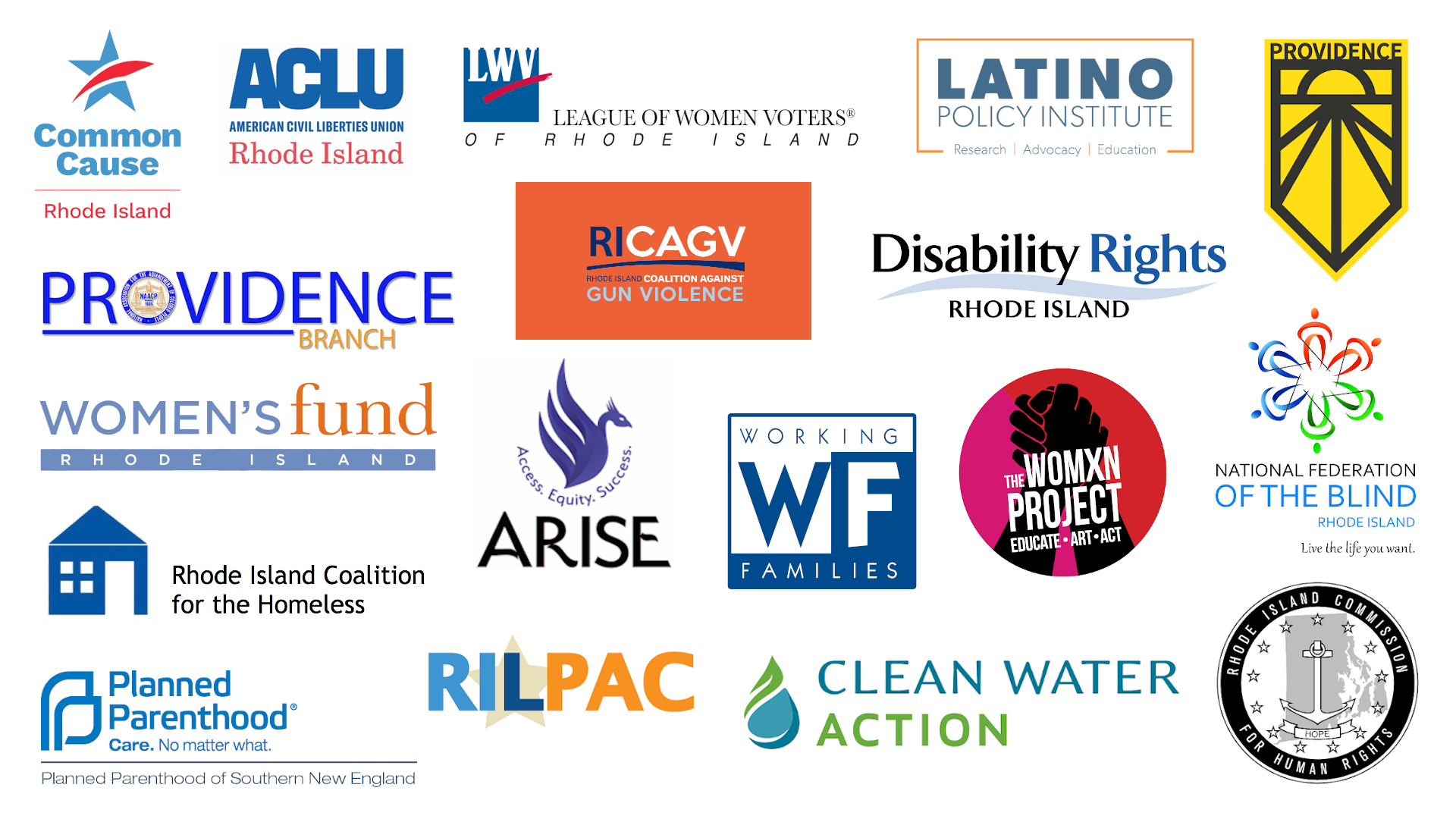 This project is sponsored by a coalition of community organizations working to provide information and resources to Rhode Island voters.