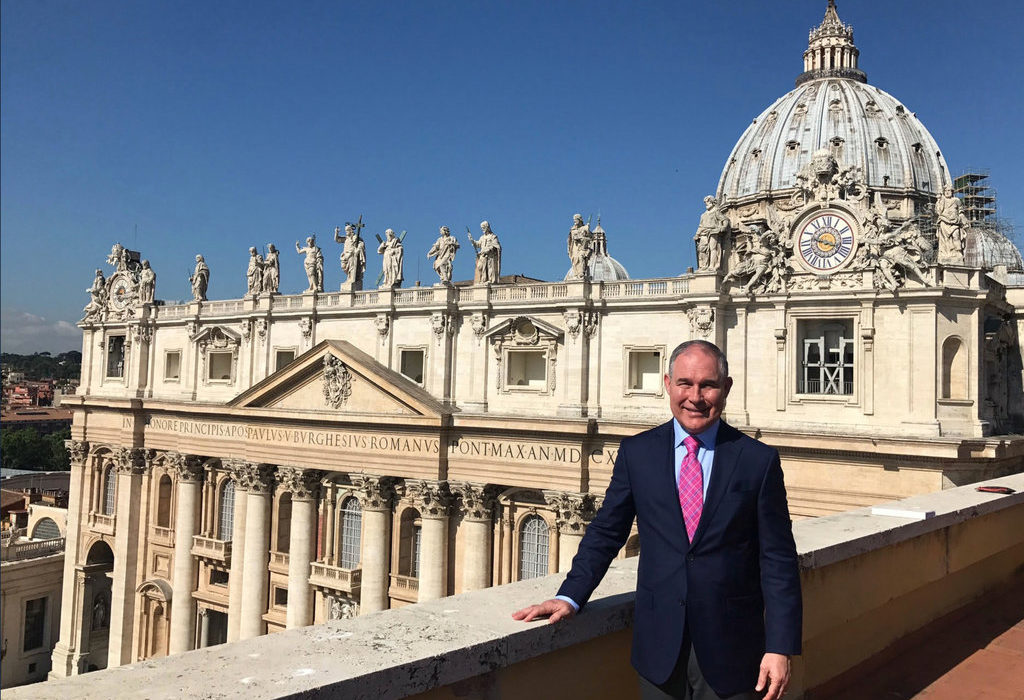 EPA Chief Scott Pruitt saw the sights during an official trip to Italy last year.