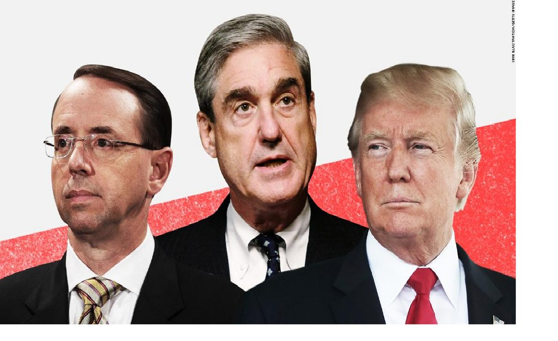 How long can Deputy Attorney General Rod Rosenstein protect Robert Mueller from President Trump?