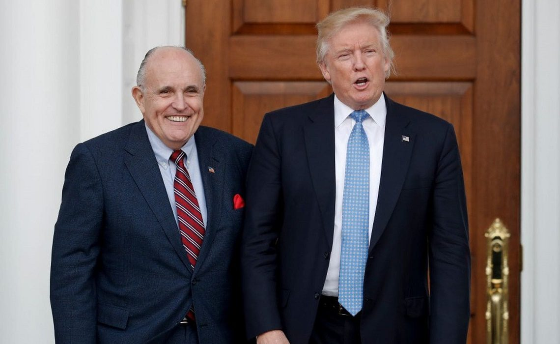 Former New York Mayor Rudy Giuliani is leading a decidedly unconventional defense of President Trump on possible campaign finance law violations.