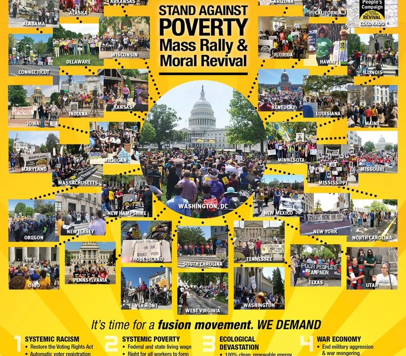 The Poor People's Campaign is busing and ridesharing thousands of people to Washington for Saturday's march and rally.